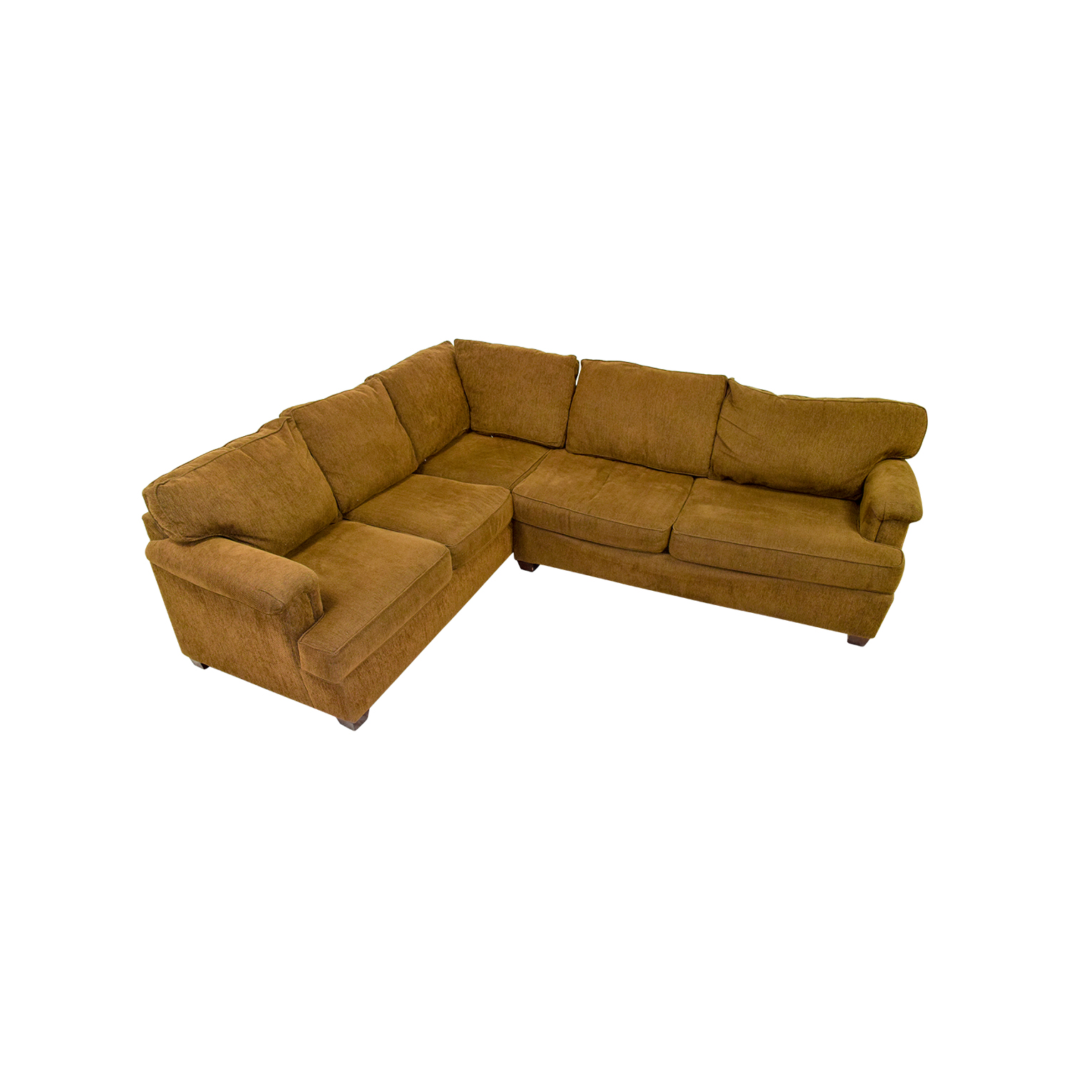 Bloomingdales Brown Corner Sectional / Sofas