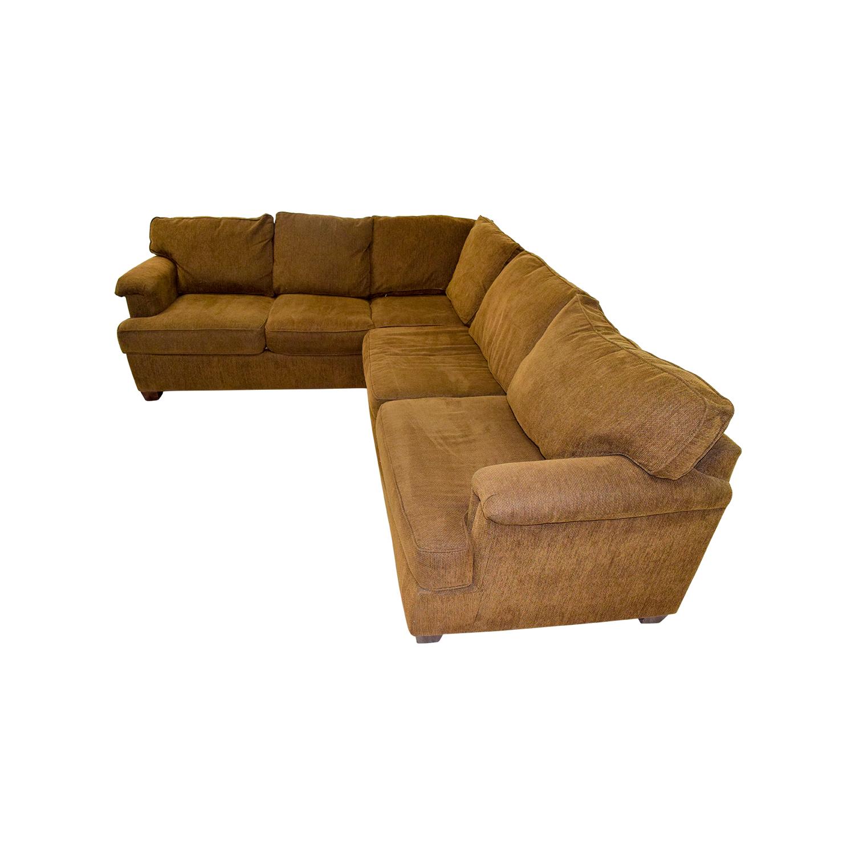 88 Off Bloomingdale 39 S Bloomingdale 39 S Brown Corner Sectional Sofas