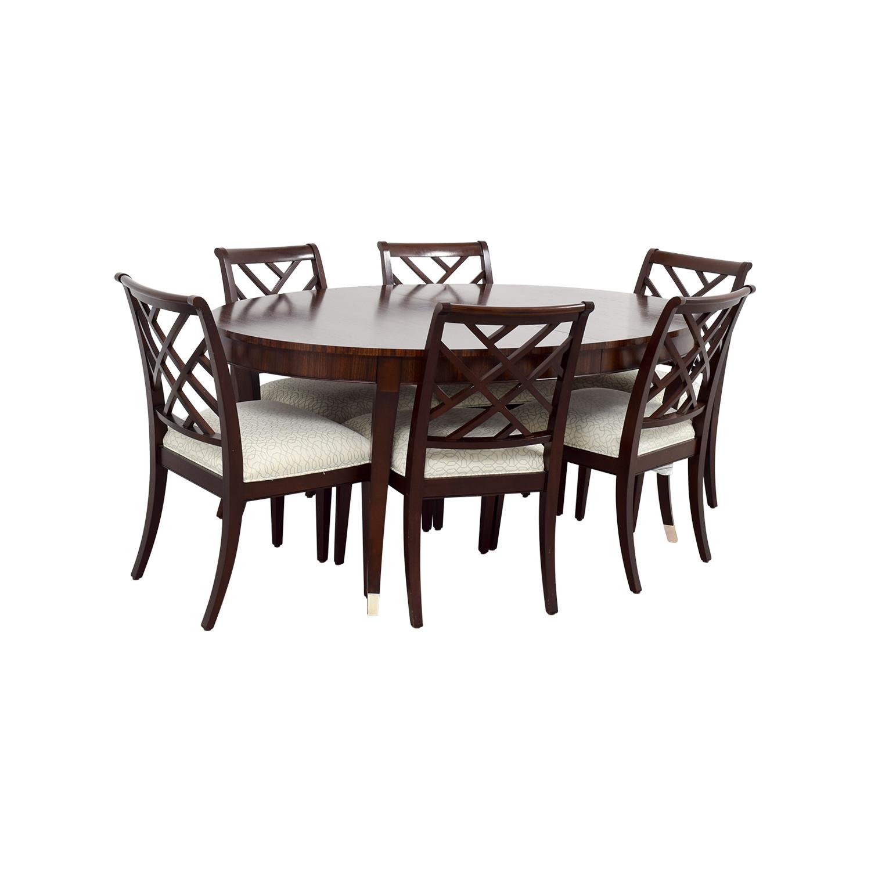 54 Off Ethan Allen Ethan Allen Hathaway Dining Set Tables
