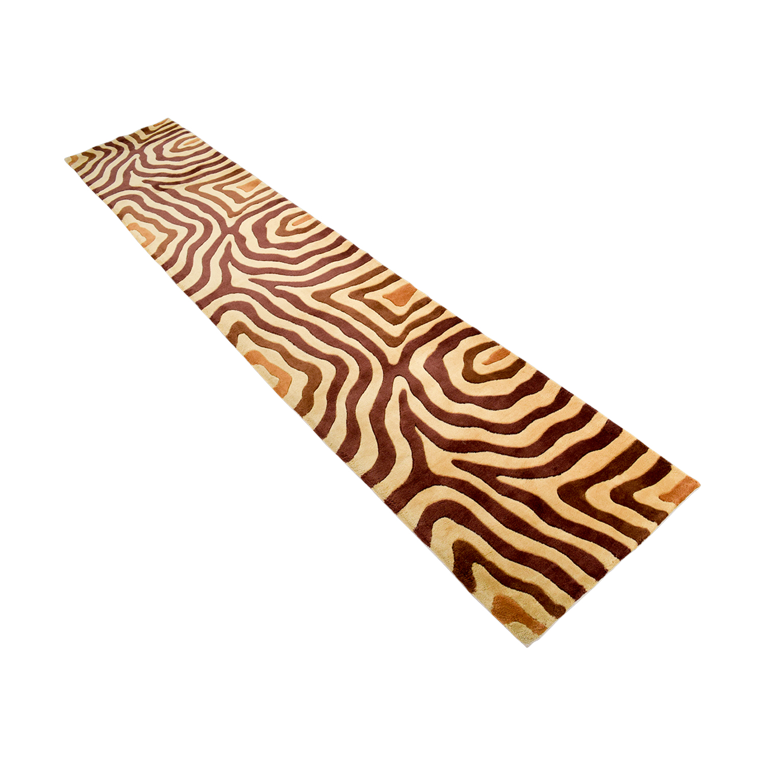 Tan and Brown Runner Rug for sale