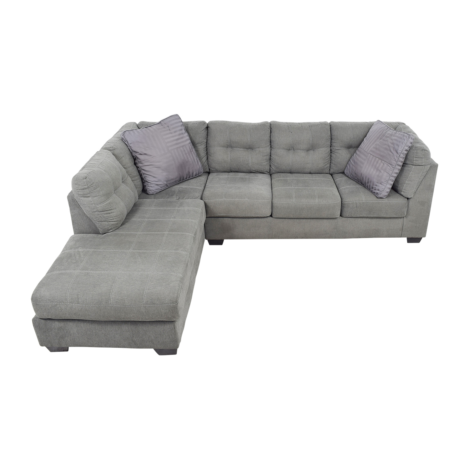 Astonishing 54 Off Jennifer Furniture Jennifer Convertibles Arthur Grey Left Arm Chaise Sectional Sofas Gmtry Best Dining Table And Chair Ideas Images Gmtryco