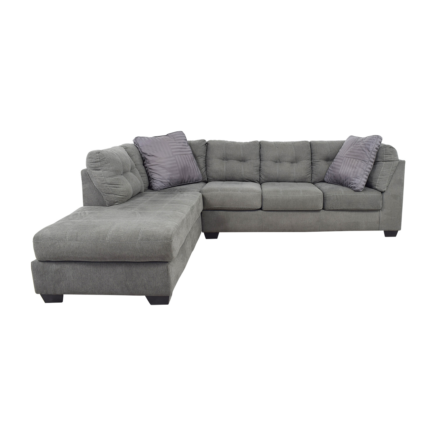 buy Jennifer Convertibles Arthur Grey Left Arm Chaise Sectional Jennifer Convertibles Sectionals
