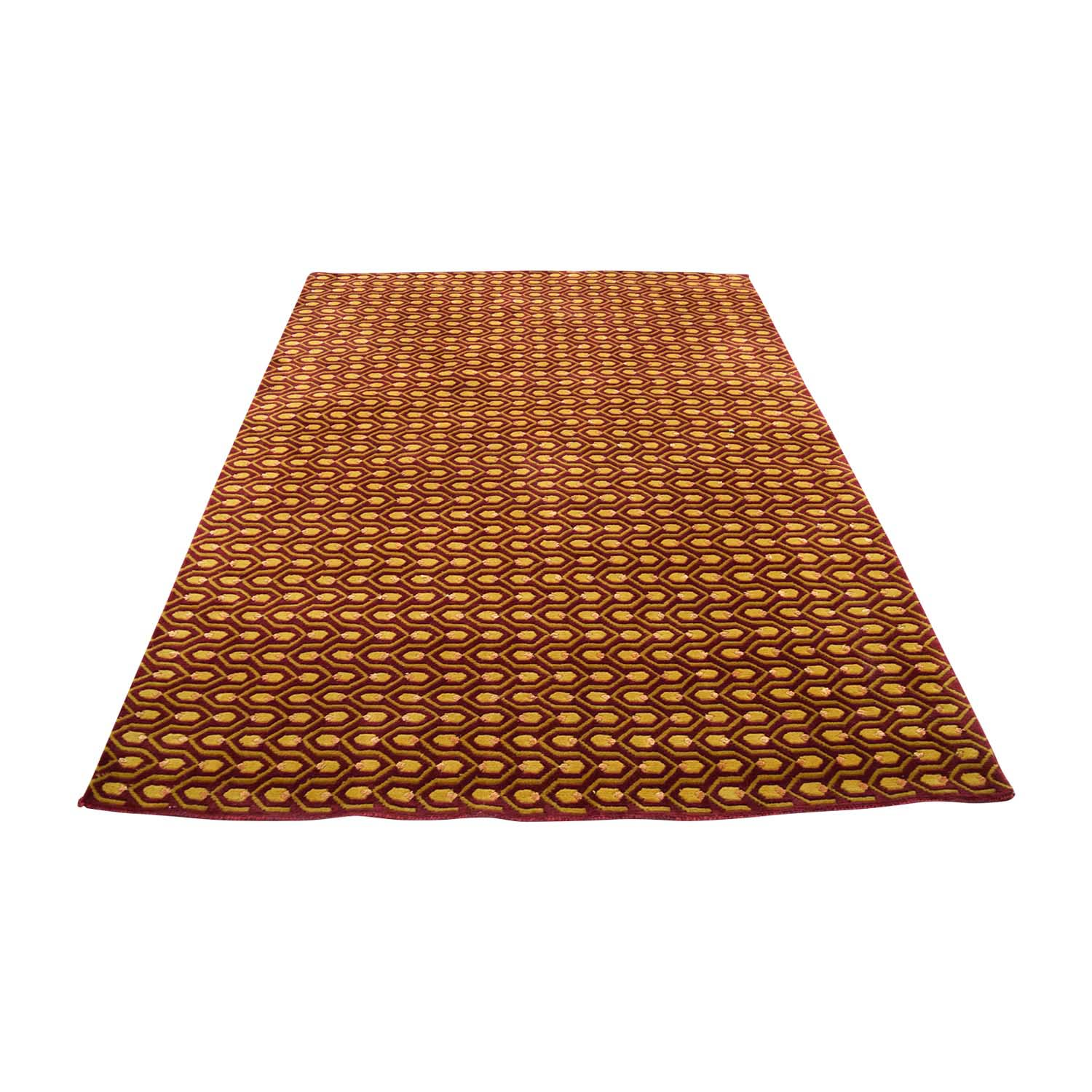 shop Red and Gold Rug