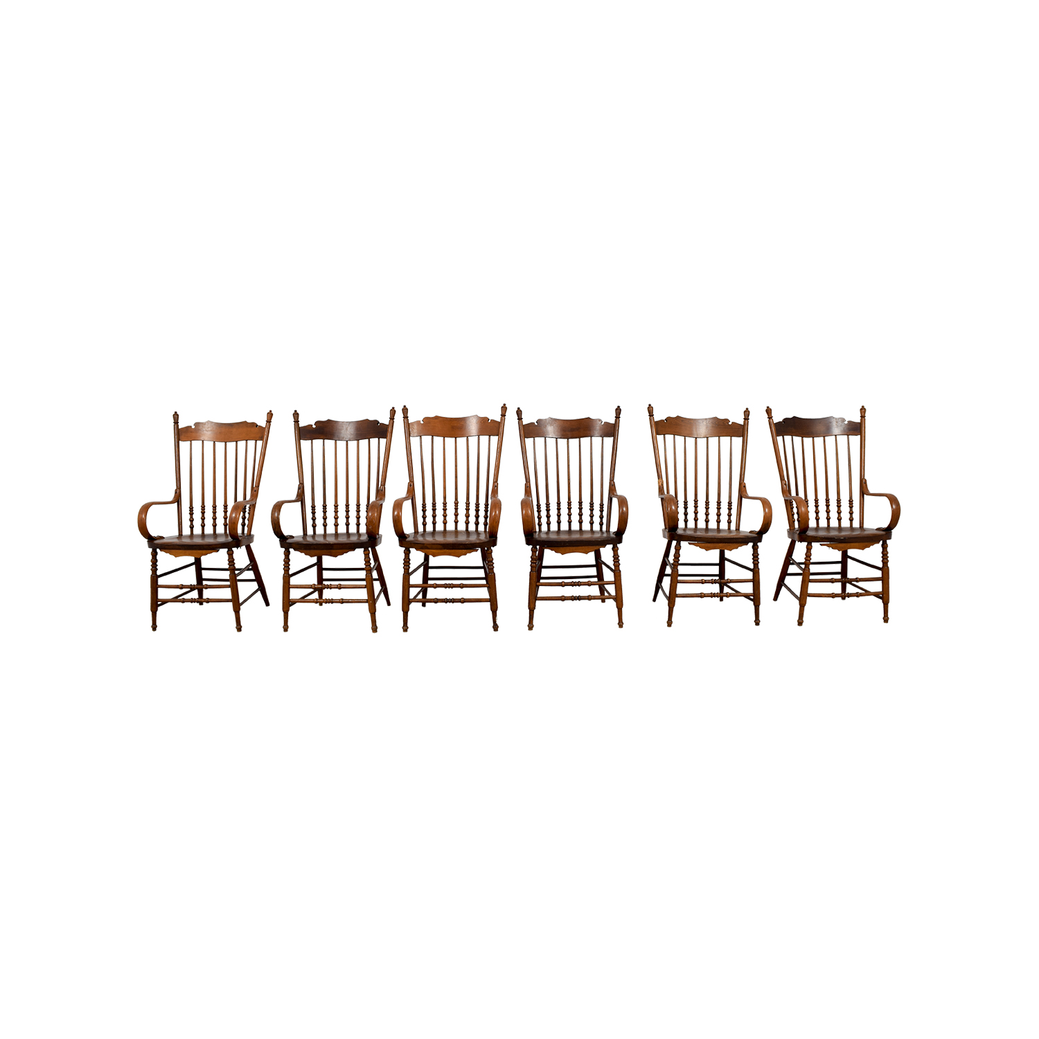 Antique Windsor Chairs with Arms