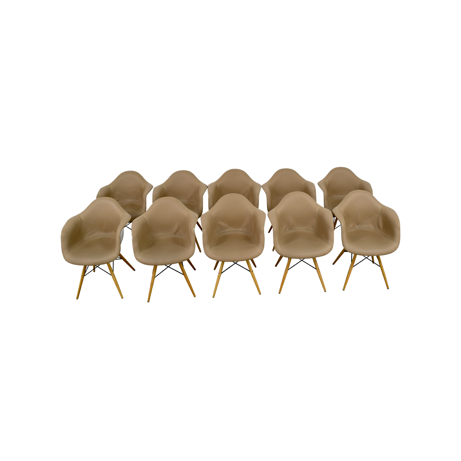 Room & Board Room & Board Beige Leather Chairs for sale