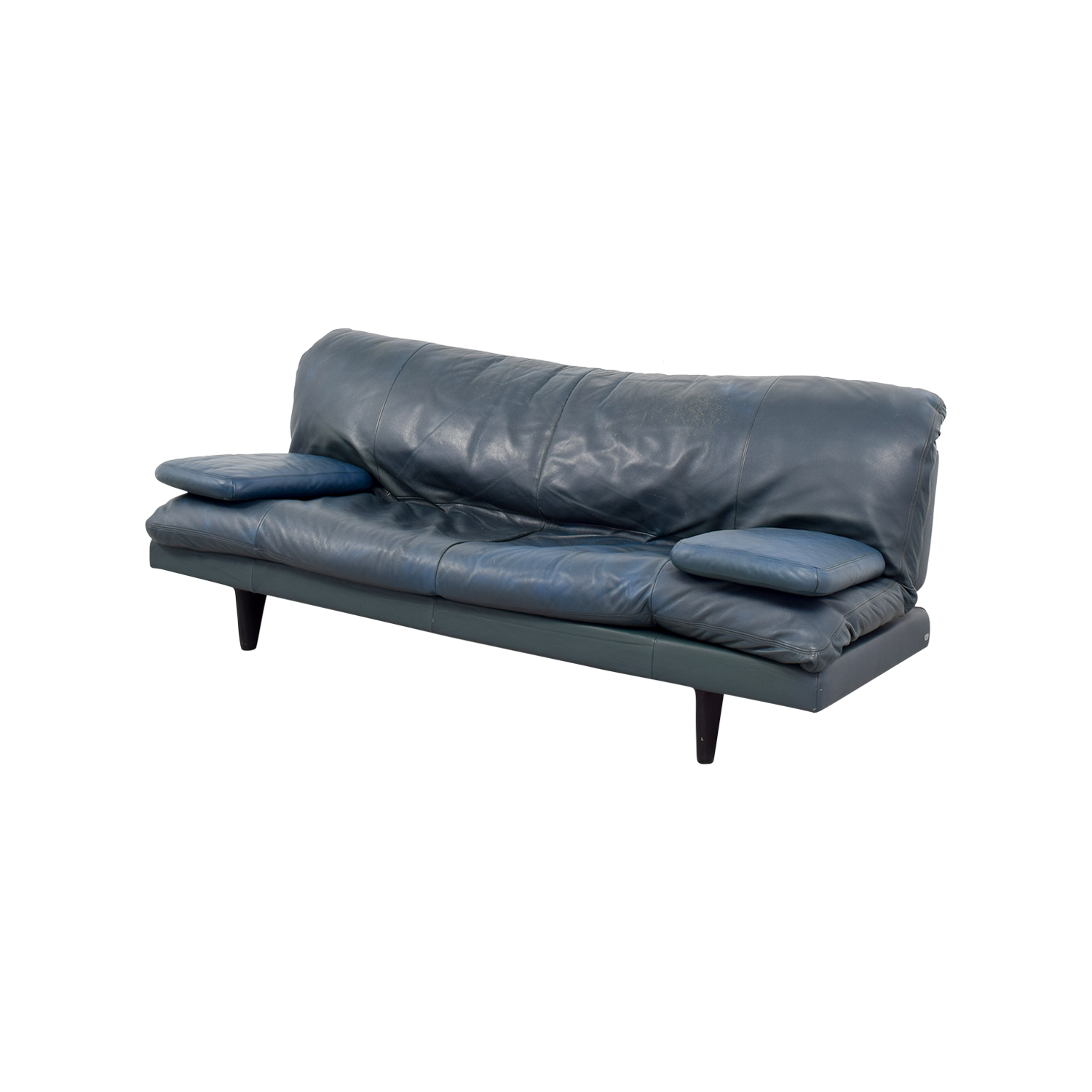 ... DDC DDC Green Leather Couch Green ...