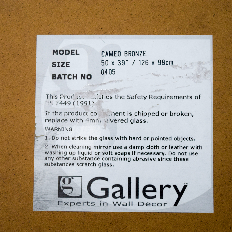 Gallery Gallery Cameo Bronze Mirror Decor
