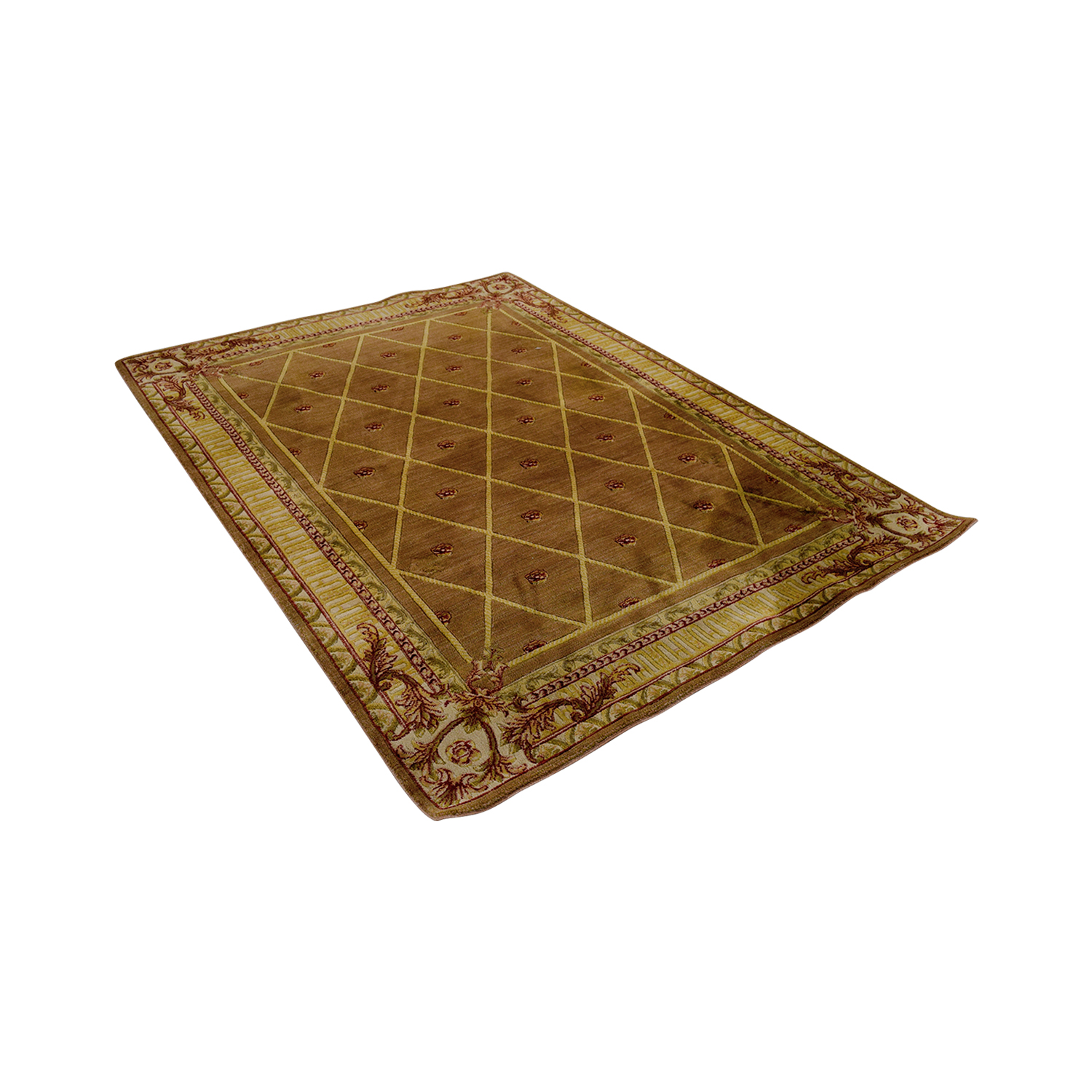 Gold and Red Rug Rugs