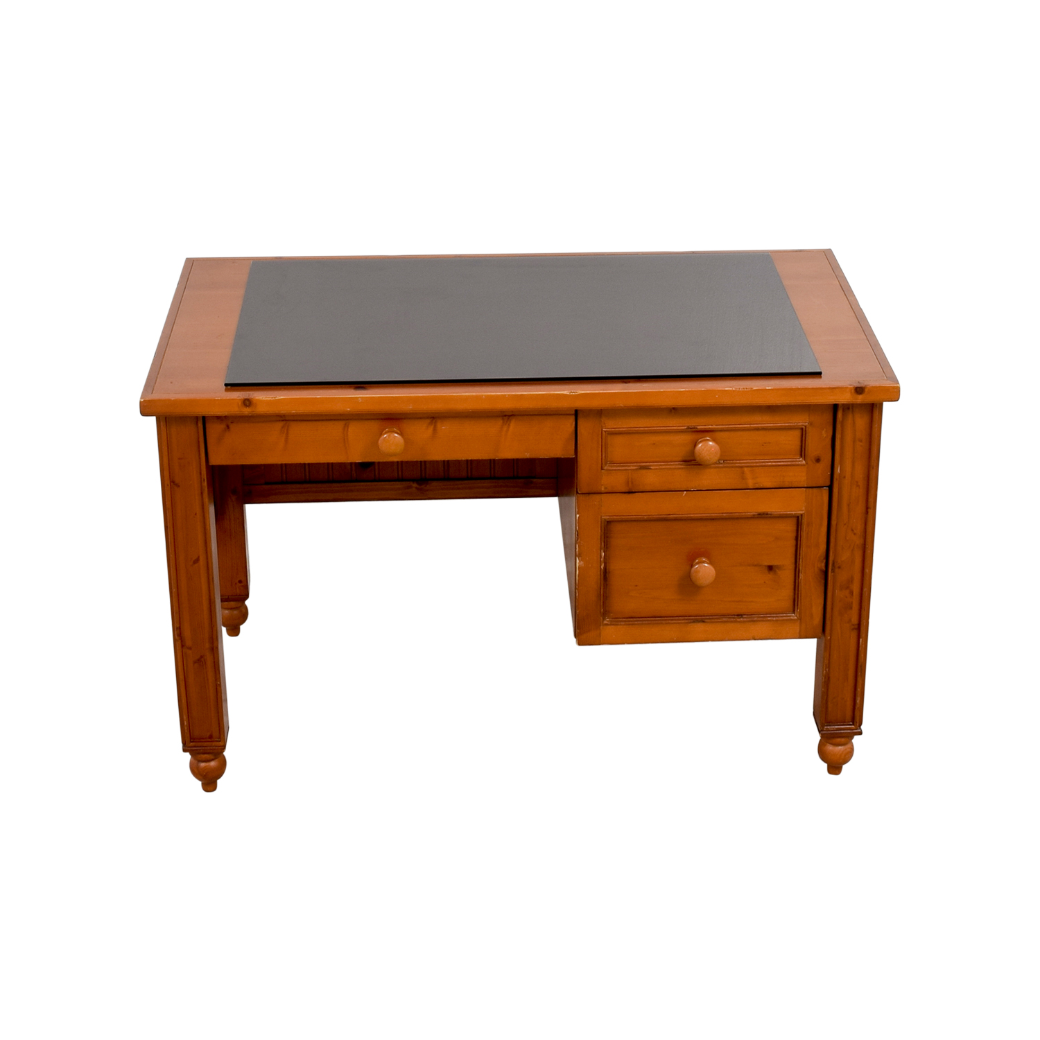 Off pottery barn solid wood desk tables