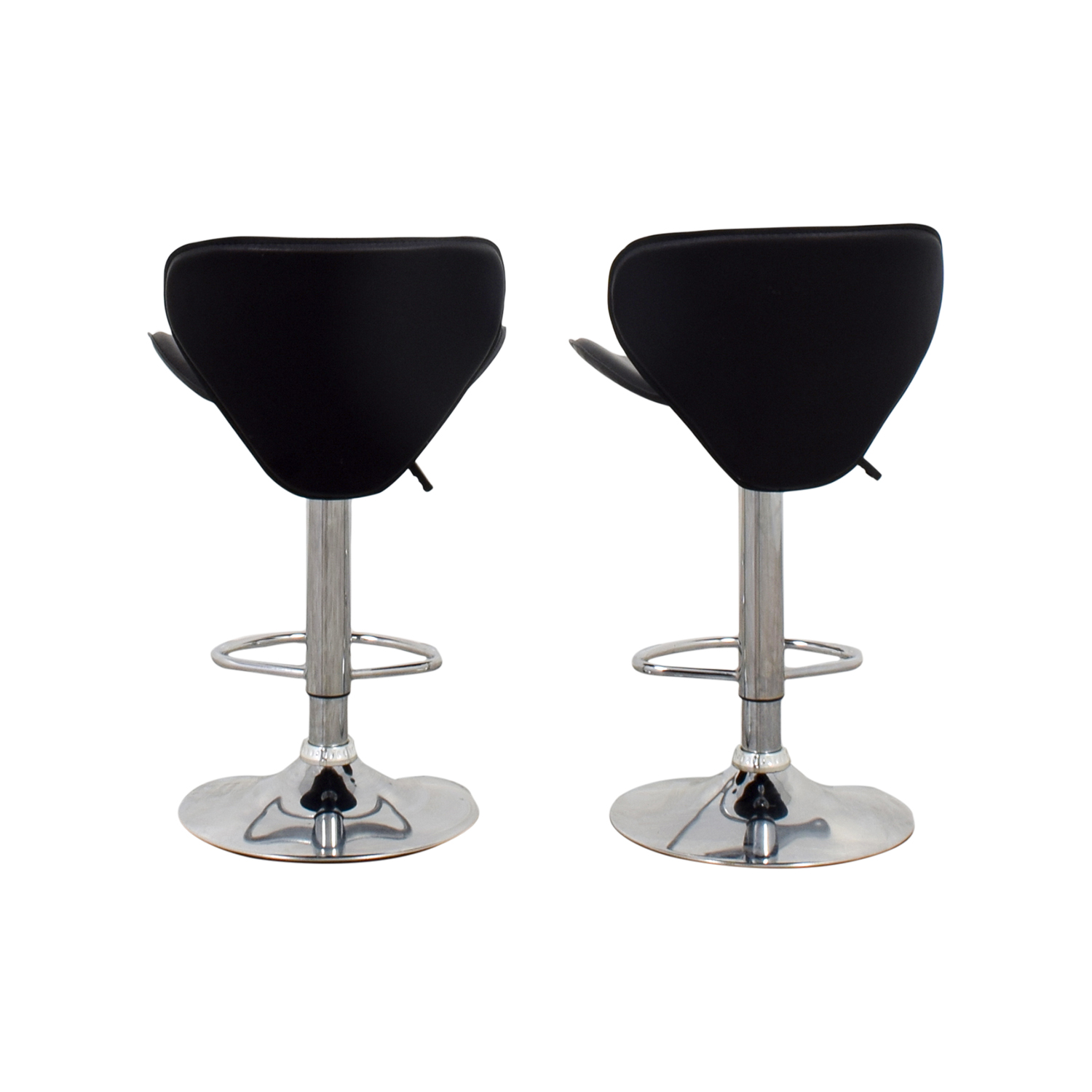 buy Black Leather Adjustable Bar Stools