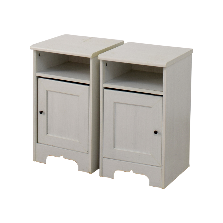 79 Off Ikea Ikea Hemnes White Side Cabinets Storage