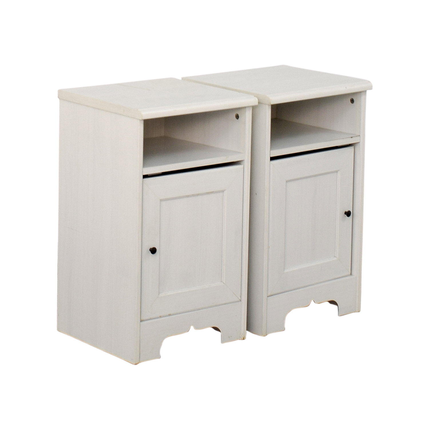 79 off ikea ikea hemnes white side cabinets storage. Black Bedroom Furniture Sets. Home Design Ideas