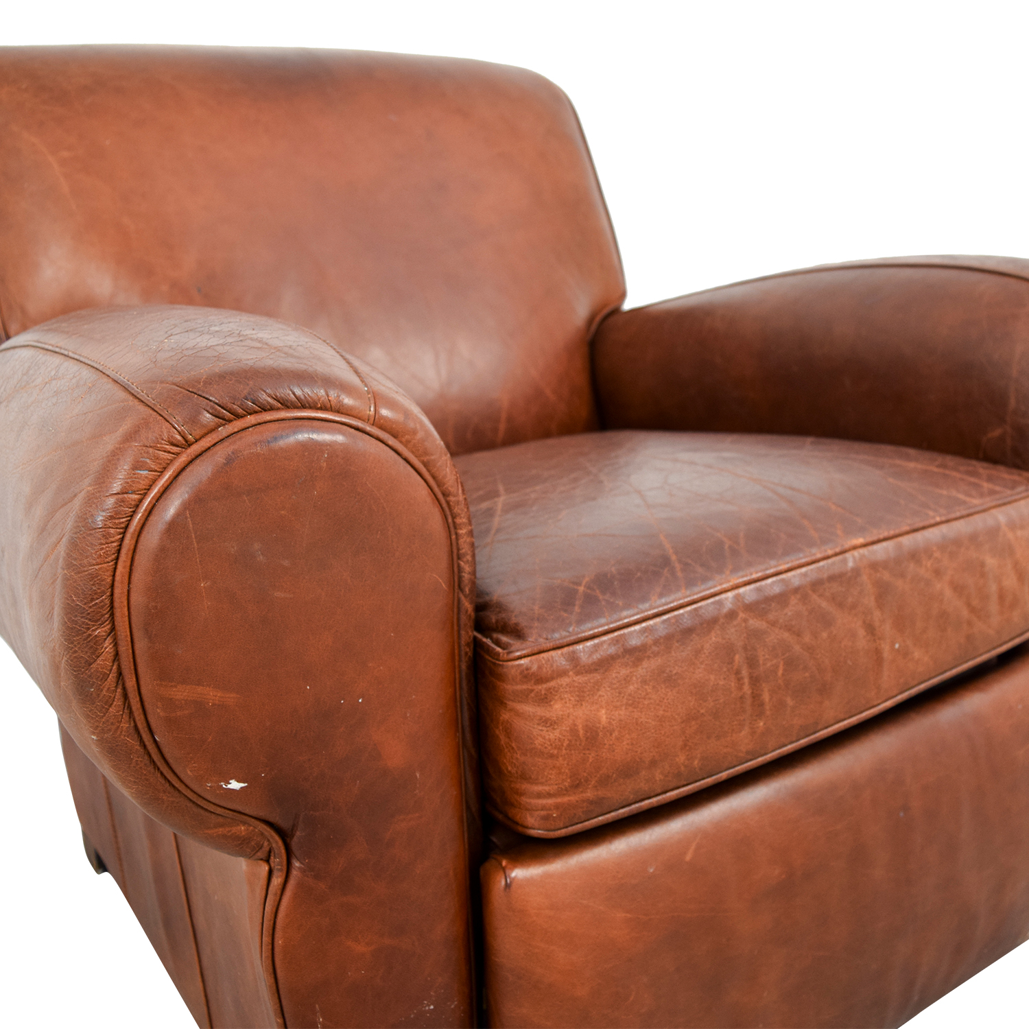 54 off pottery barn pottery barn manhattan brown leather club