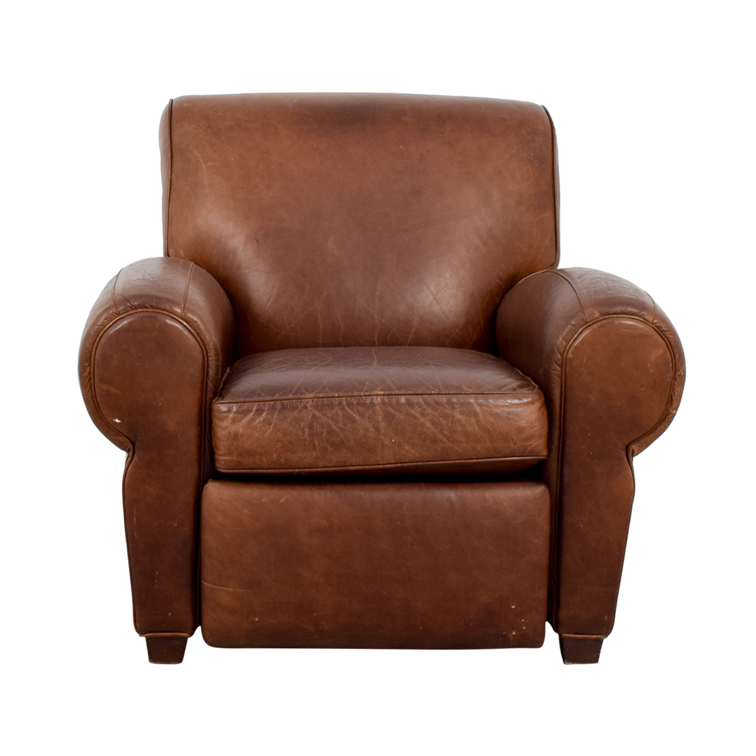 Pottery Barn Pottery Barn Manhattan Brown Leather Club Chair Chairs