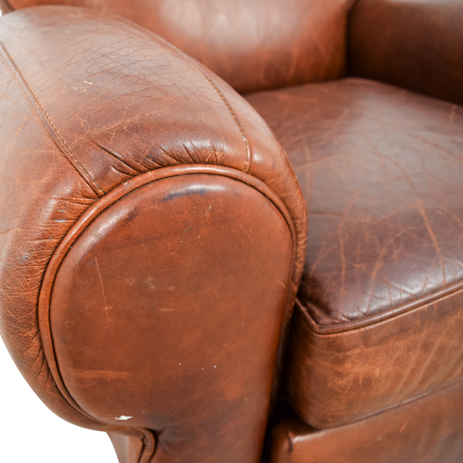 ... Pottery Barn Pottery Barn Manhattan Brown Leather Club Chair Recliners  ...