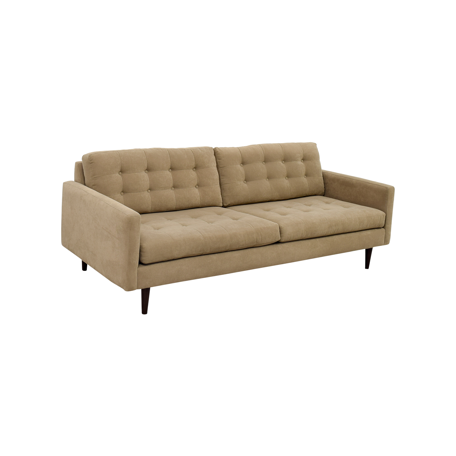 53% OFF Furniture Envy Furniture Envy Petra Khaki Tufted Sofa