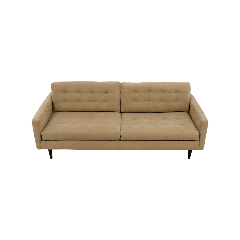 Furniture Envy Petra Khaki Tufted Sofa / Sofas