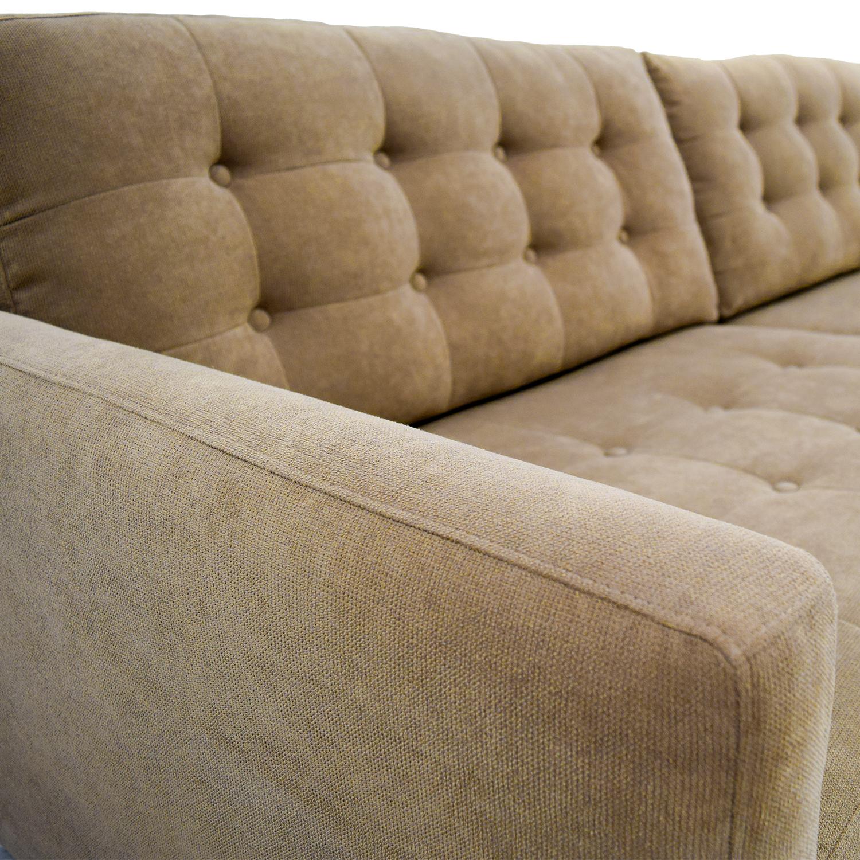 65 Off Furniture Envy Furniture Envy Petra Khaki Tufted