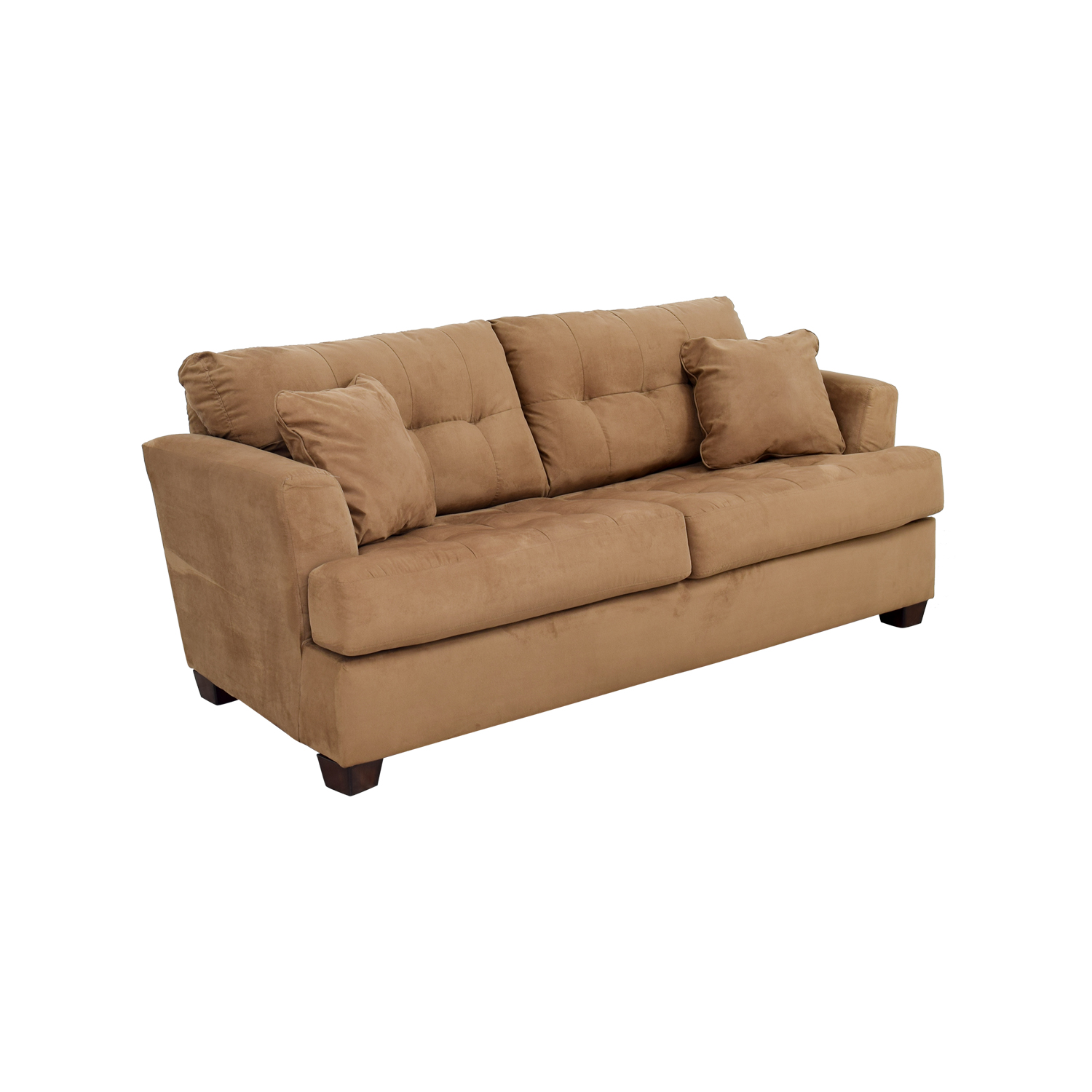 80 Off Ashley Furniture Ashley Furniture Tan Microfiber Convertible Couch Sofas