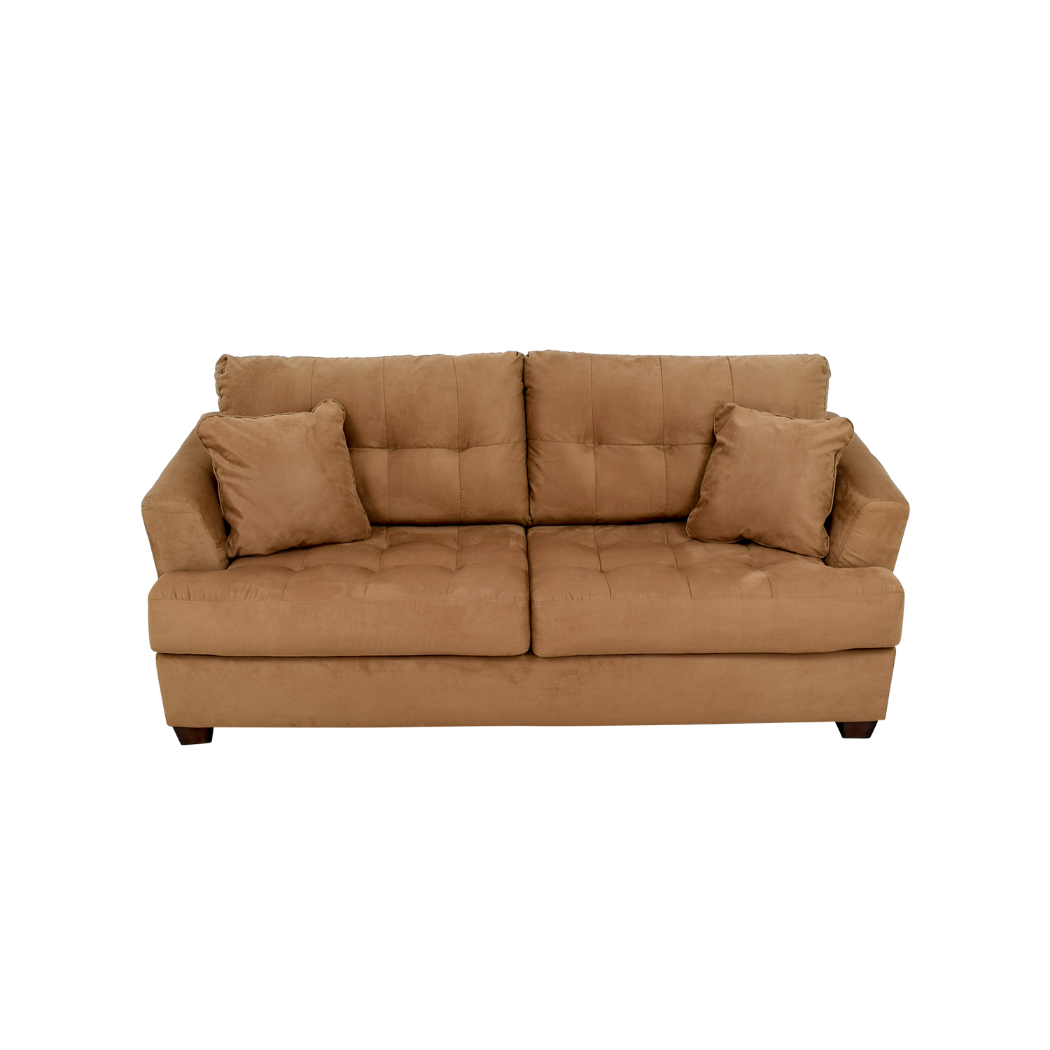Tan microfiber sofa tan microfiber contemporary sectional for Microfiber sectional sofa