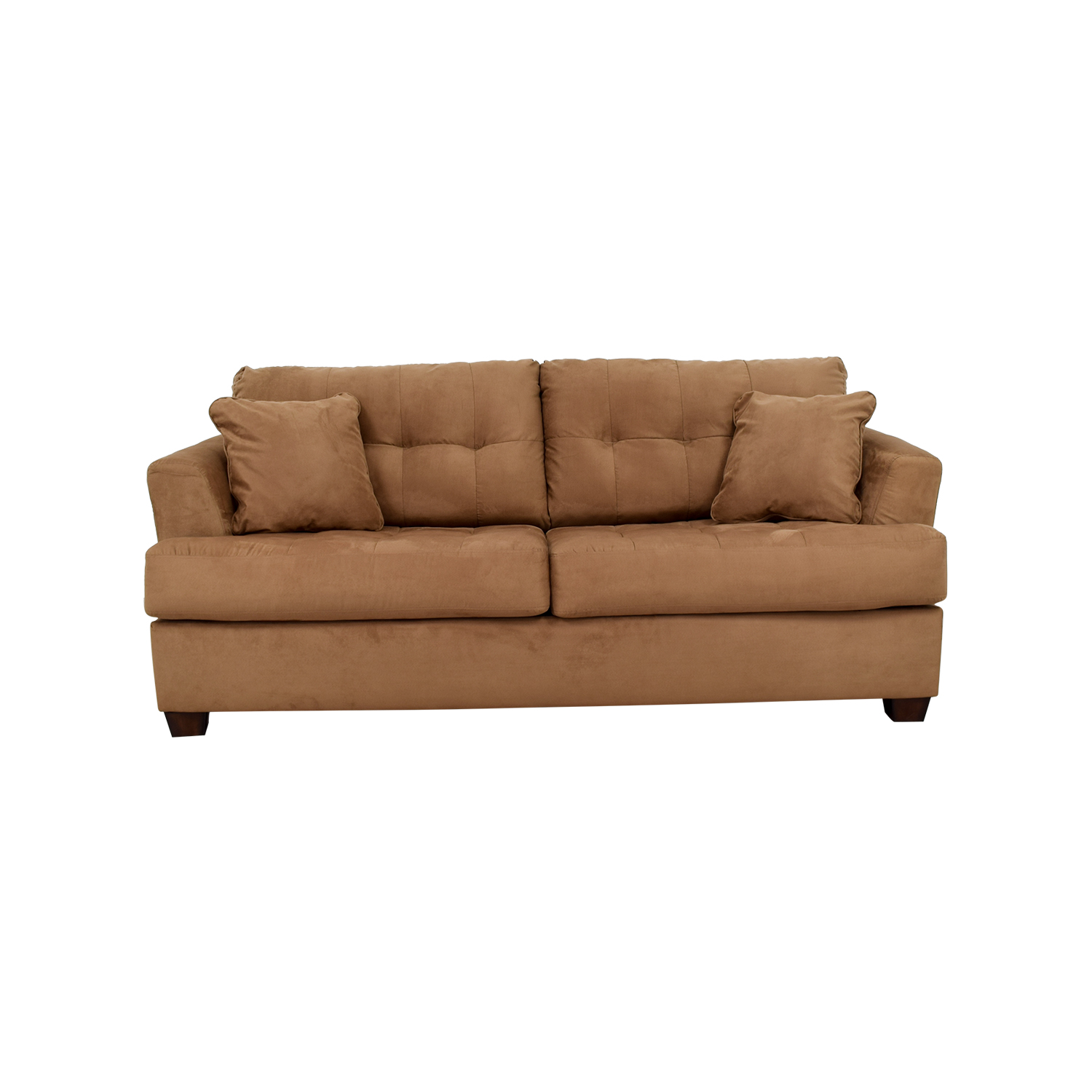 Ashley Furniture Tan Microfiber Convertible Couch Online