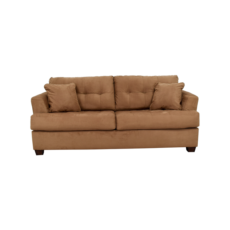 Ashley Furniture Tan Microfiber Convertible Couch Ashley Furniture
