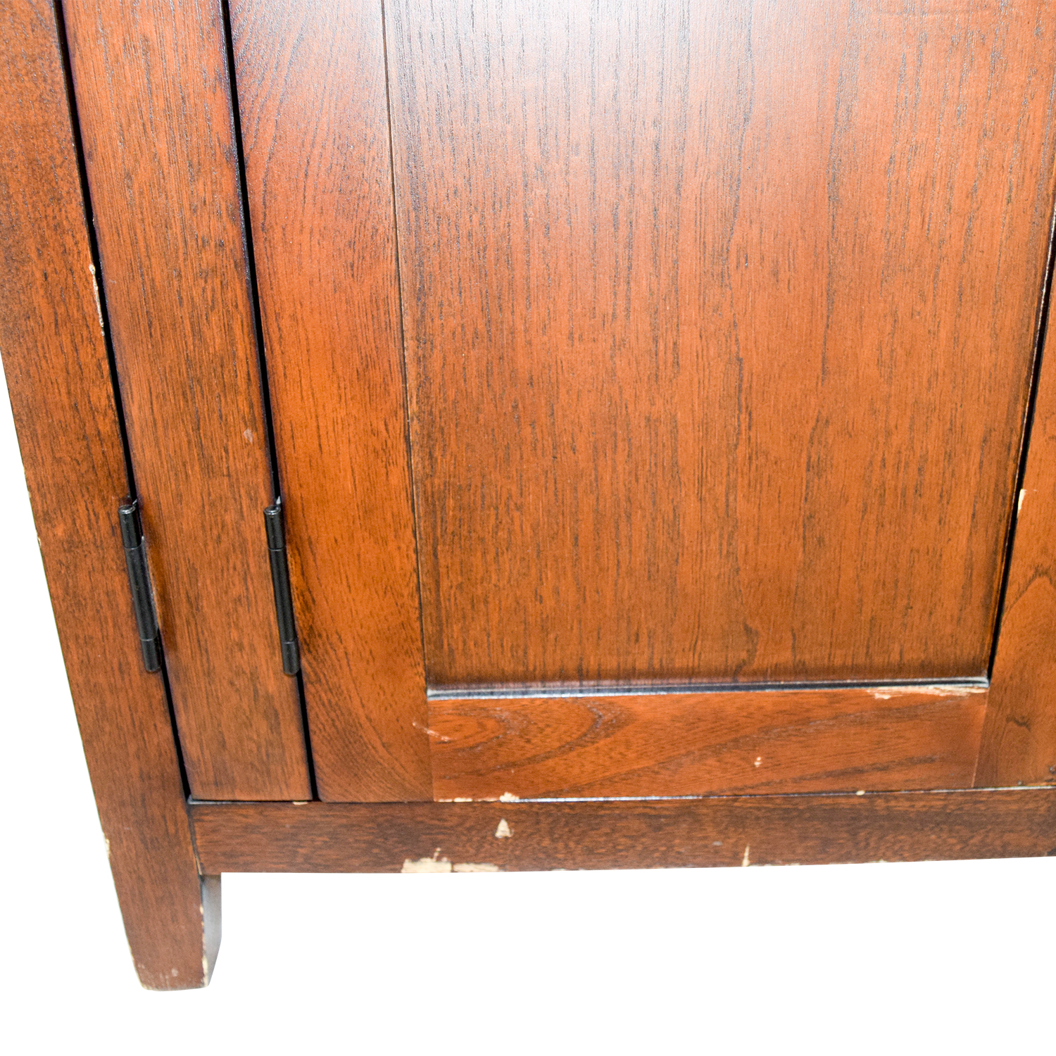 ... Dark Wood TV Or Clothing Armoire ...