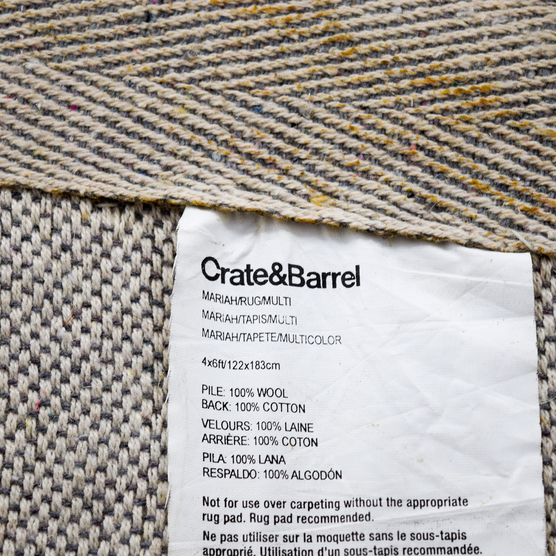 Crate & Barrel Pinwheel Rug / Rugs