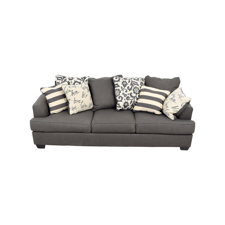 57% OFF Ashley Furniture Ashley Furniture Levon Grey Sofa Sofas