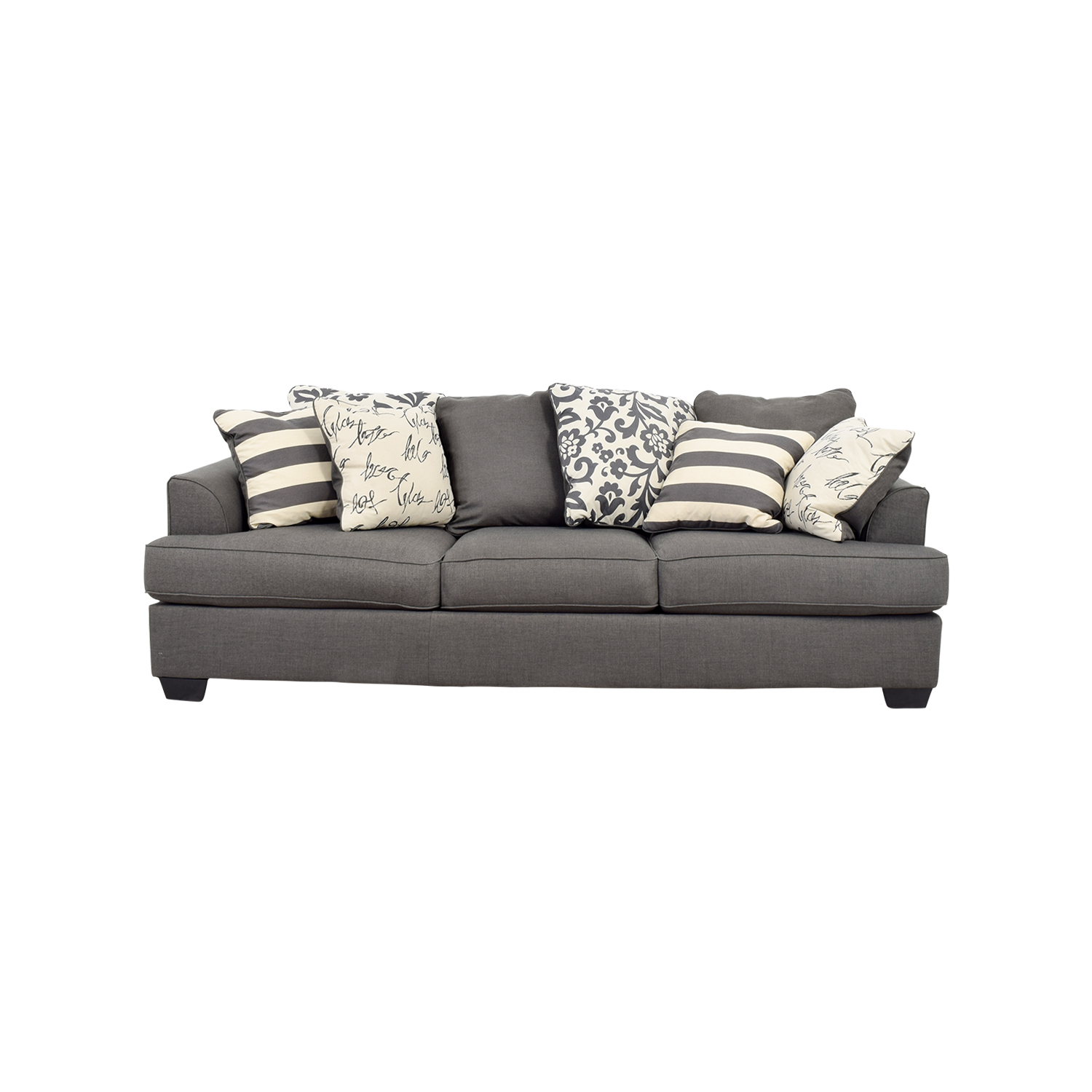 Picture of: 63 Off Ashley Furniture Ashley Furniture Levon Grey Sofa Sofas