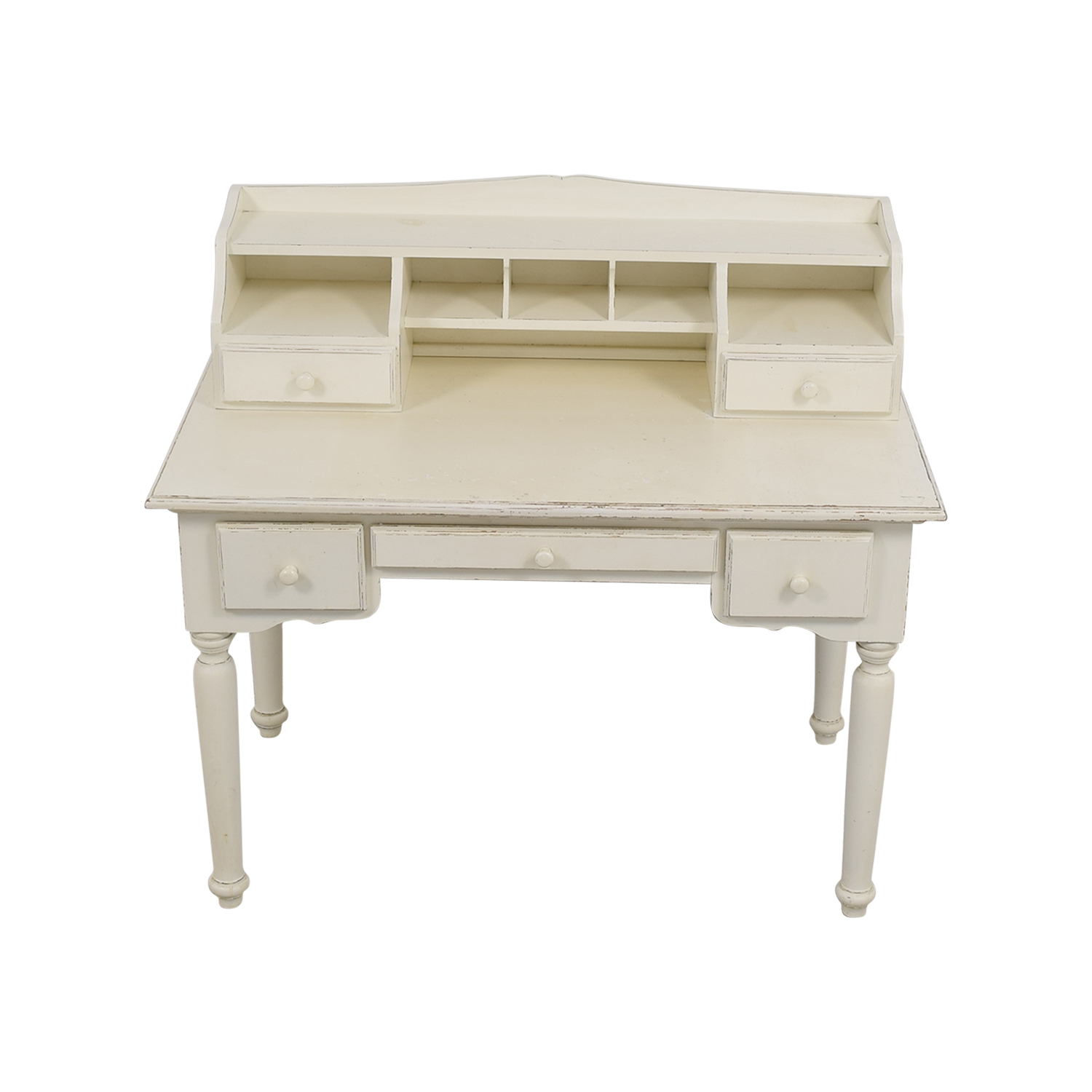 White Secretary Desk / Sofas