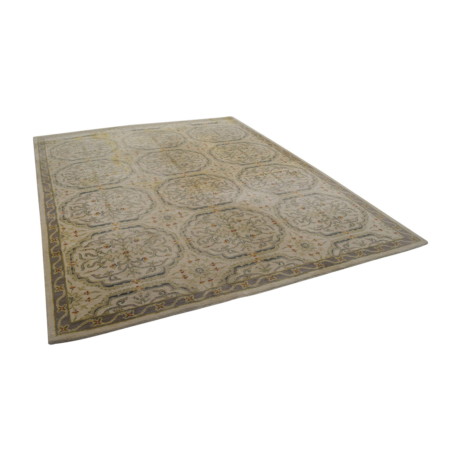 Pottery Barn Pottery Barn Beige and Grey Traditional Rug nj