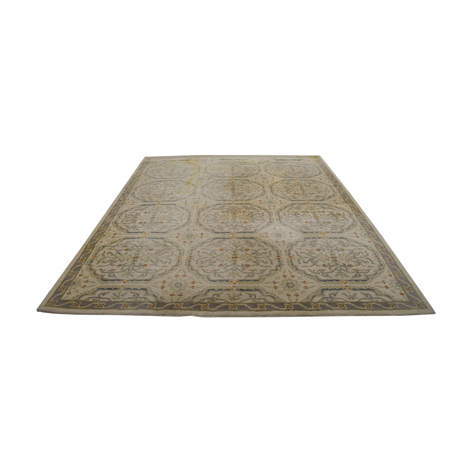 Pottery Barn Pottery Barn Beige and Grey Traditional Rug Decor