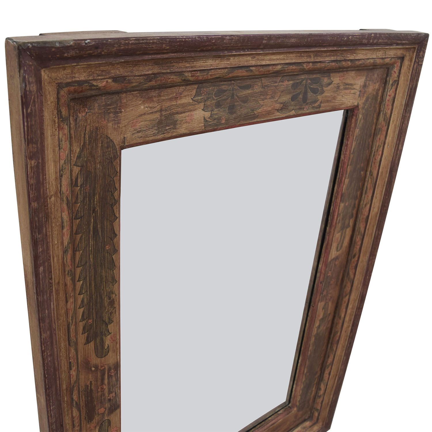 73 Off Pottery Barn Pottery Barn Painted Wooden Mirror Decor
