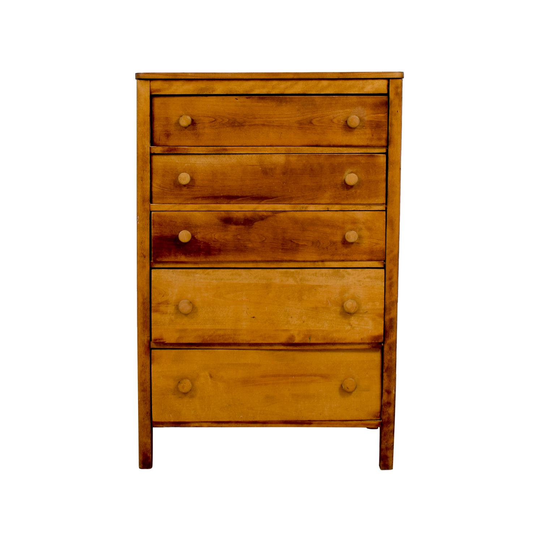 buy Rustic Wooden Five-Drawer Dresser