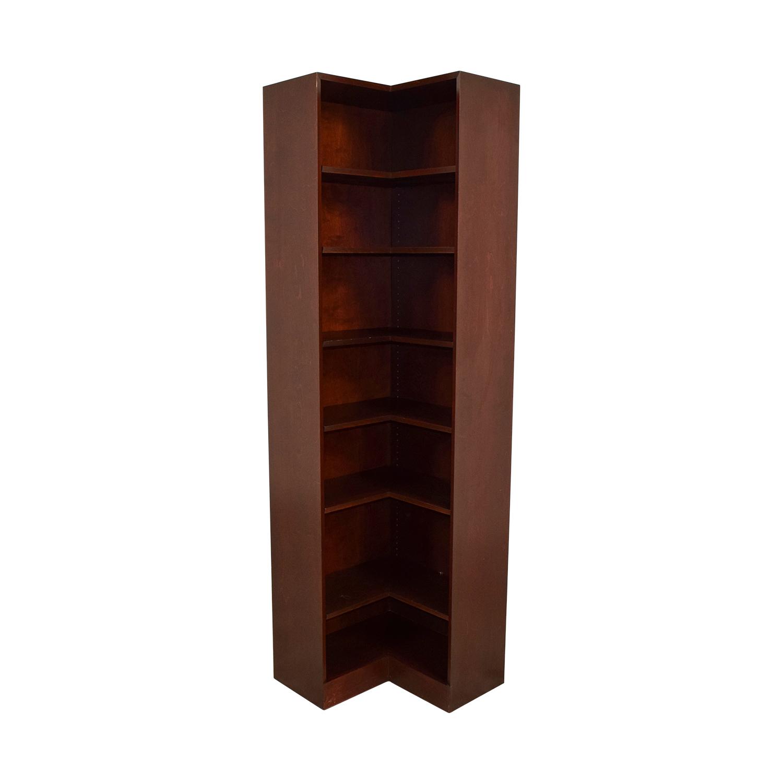 90 Off Hale Hale Wood Double Corner Bookshelf Storage
