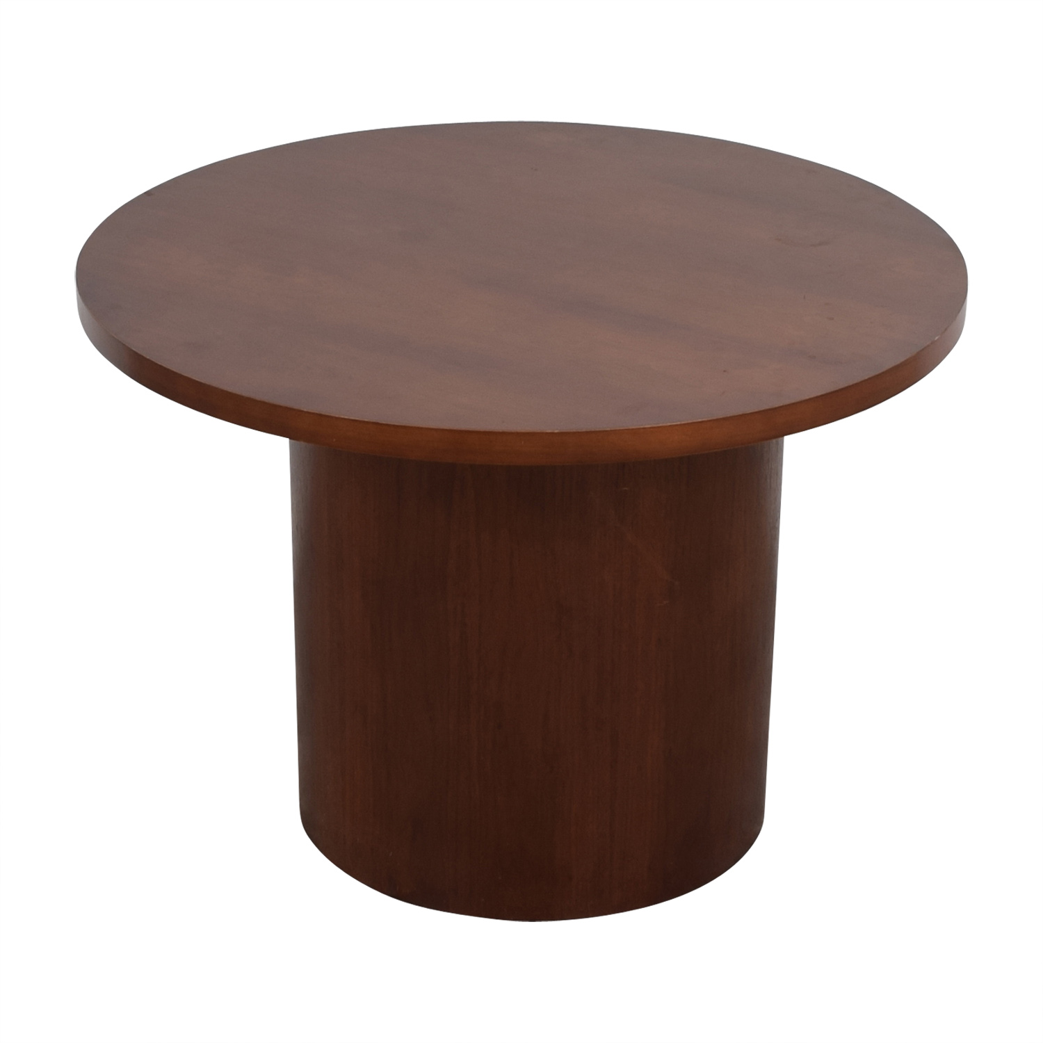 Round Wood Pedestal Table on sale