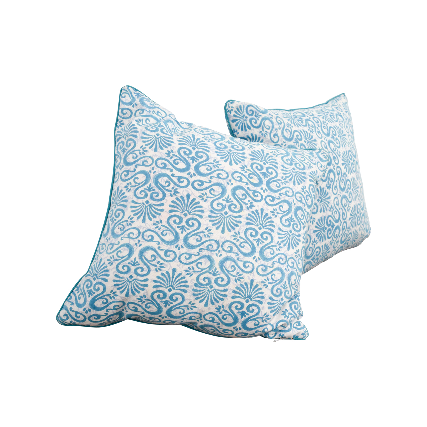 buy Roller Rabbit Blue and White Scroll Pillows Roller Rabbit