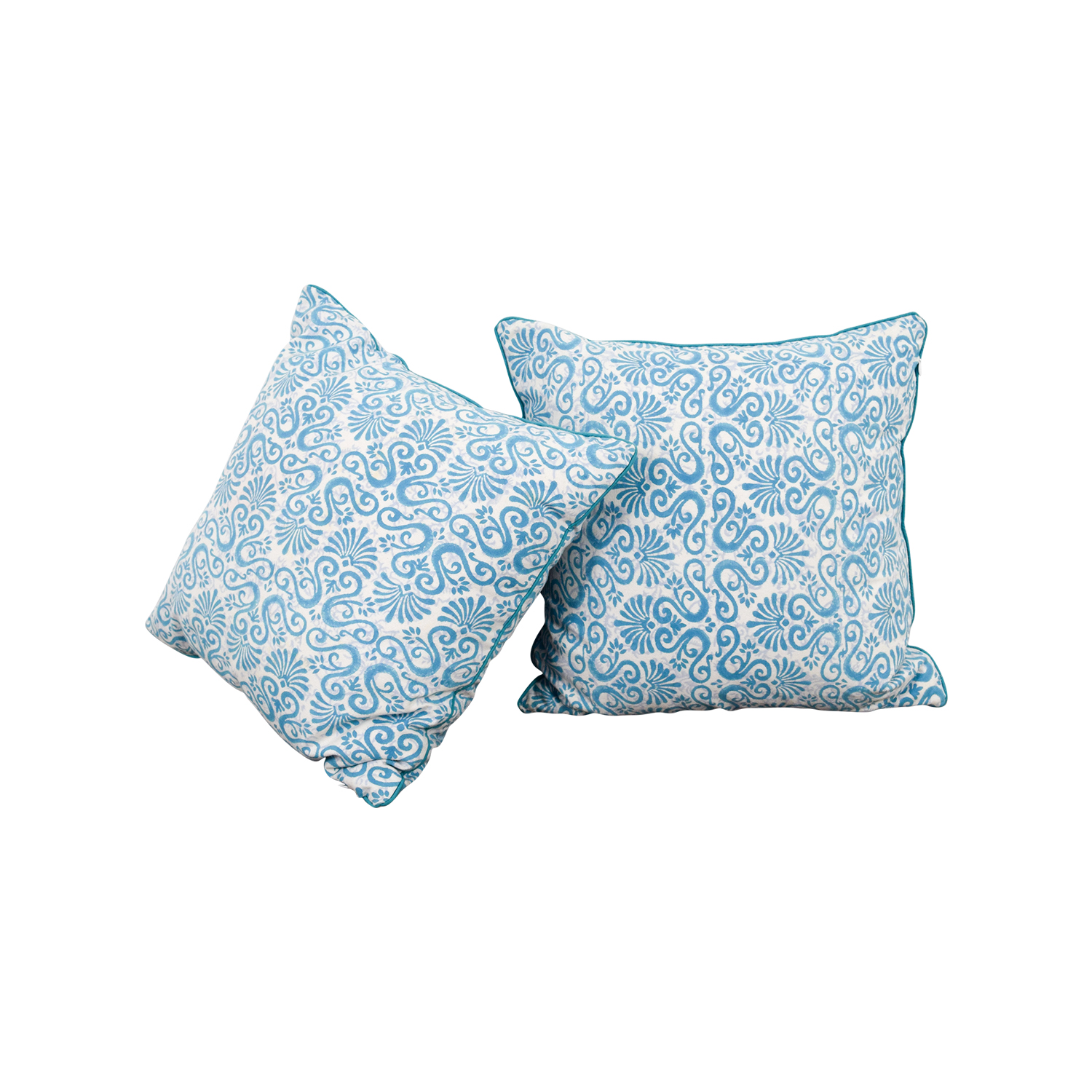 buy Roller Rabbit Roller Rabbit Blue and White Scroll Pillows online