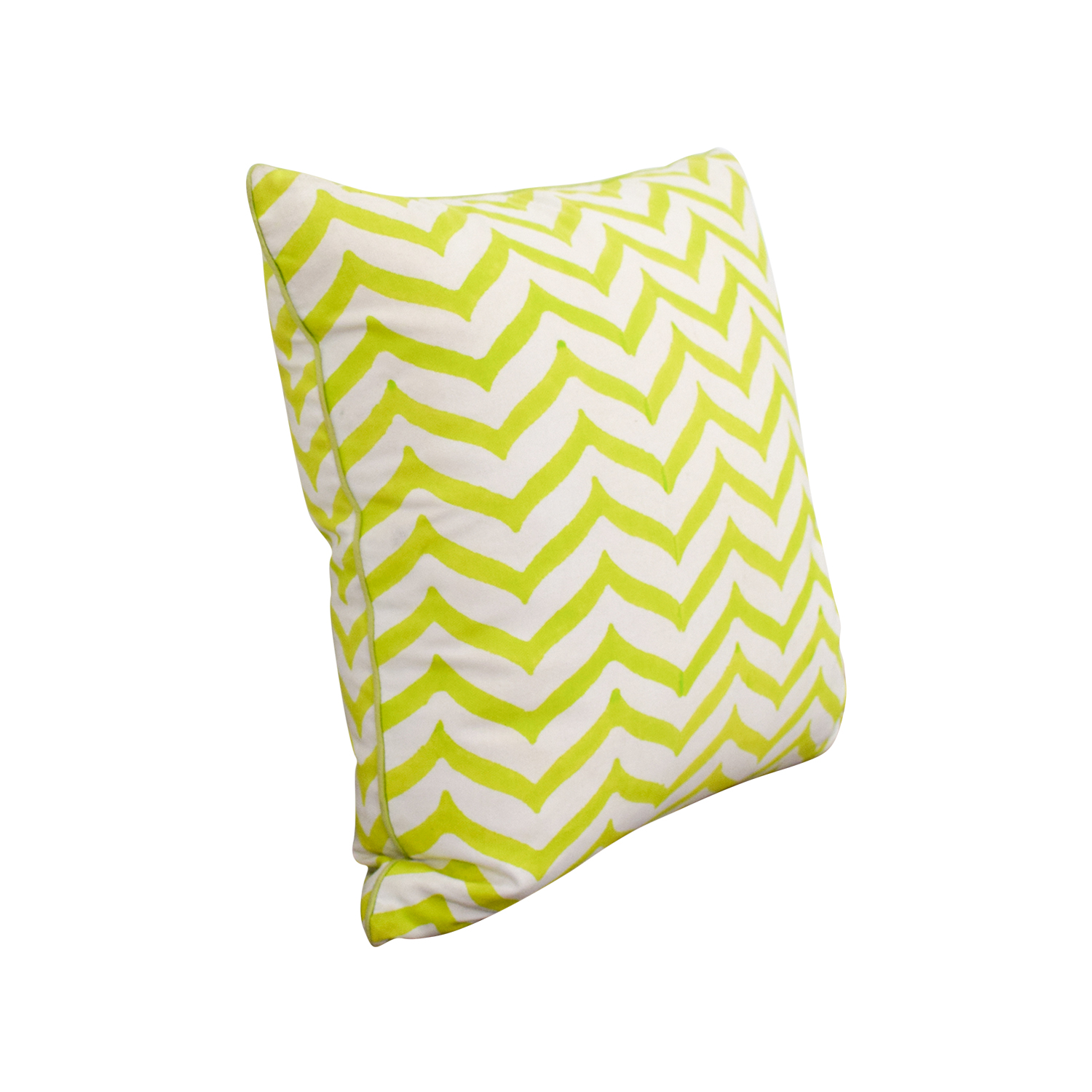 Roller Rabbit Roller Rabbit Green and White Zig Zag Toss Pillow nj