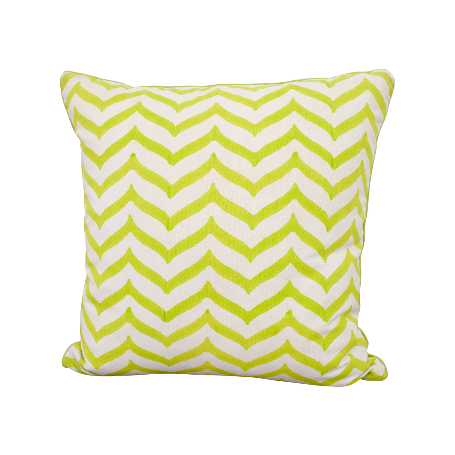 Roller Rabbit Roller Rabbit Green and White Zig Zag Toss Pillow dimensions