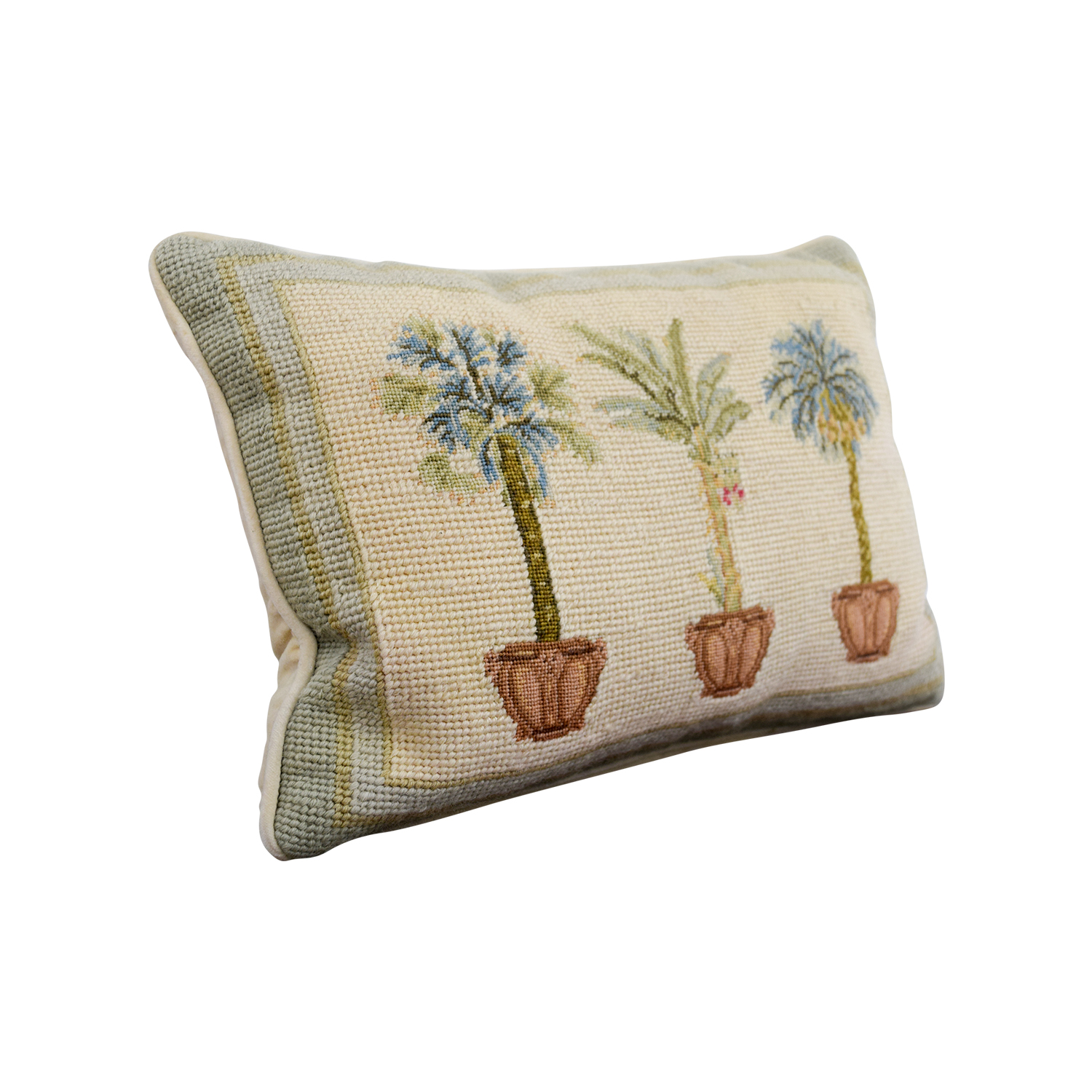 shop London Palm Trees Needlepoint Pillow London Decor