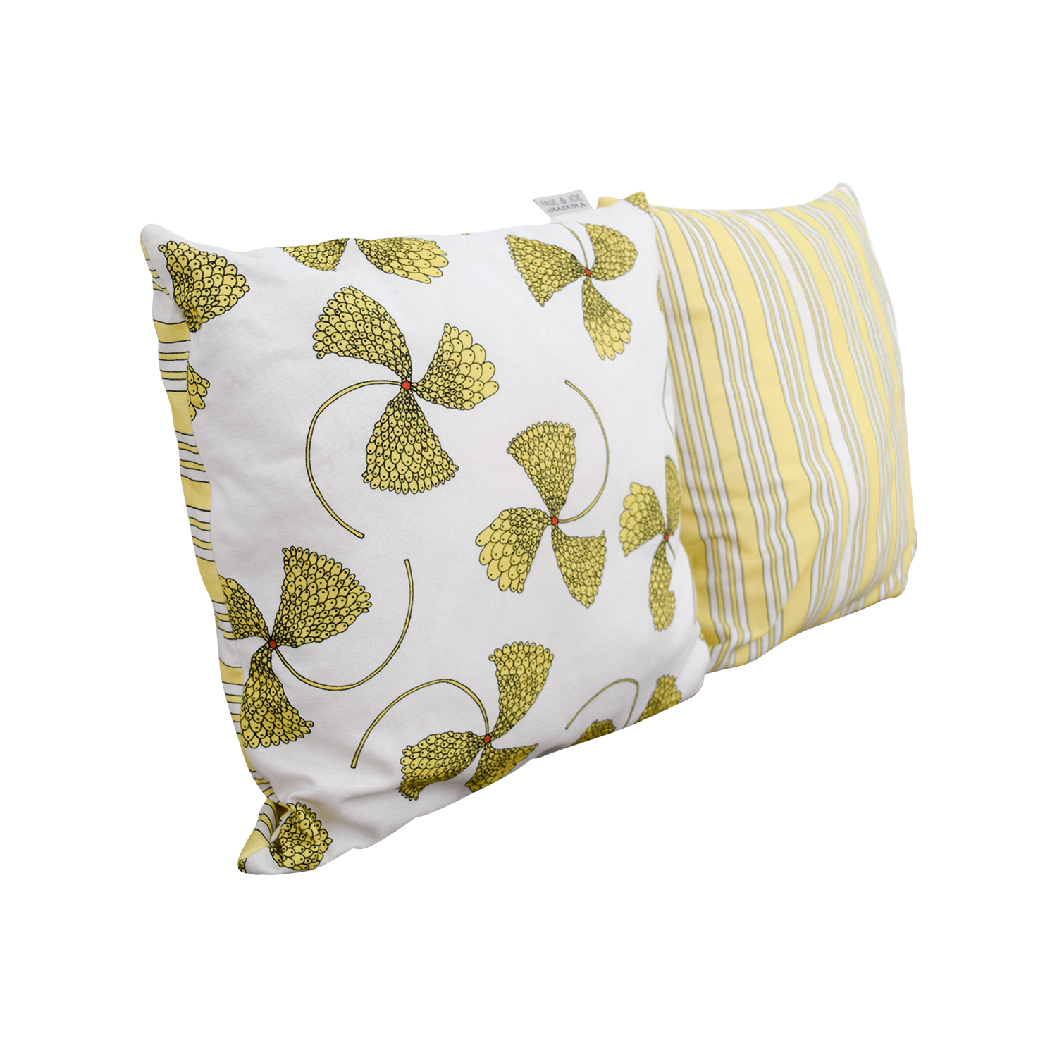 buy Madura Yellow Floral Reversable Pillow Madura Decorative Accents