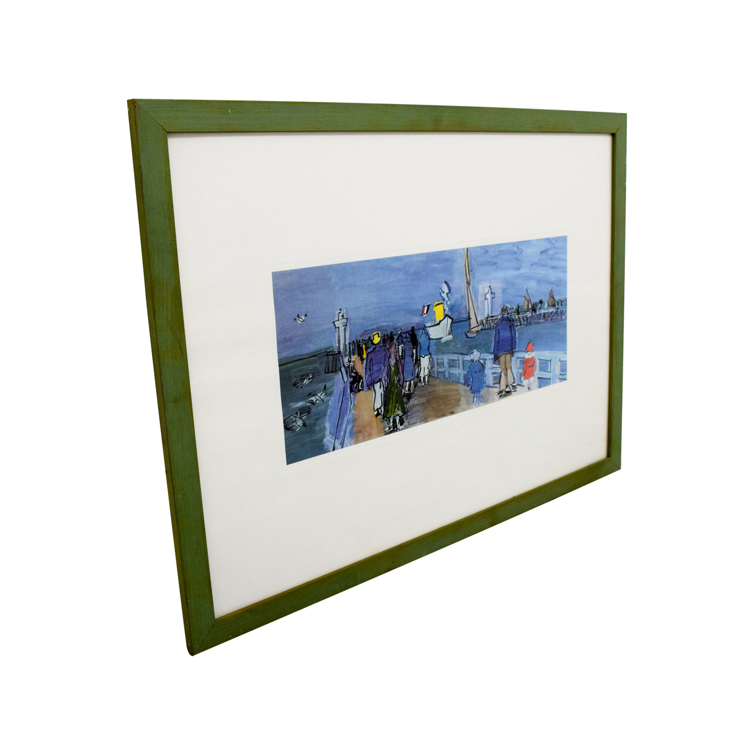 France Boat Deck Framed Picture Decor
