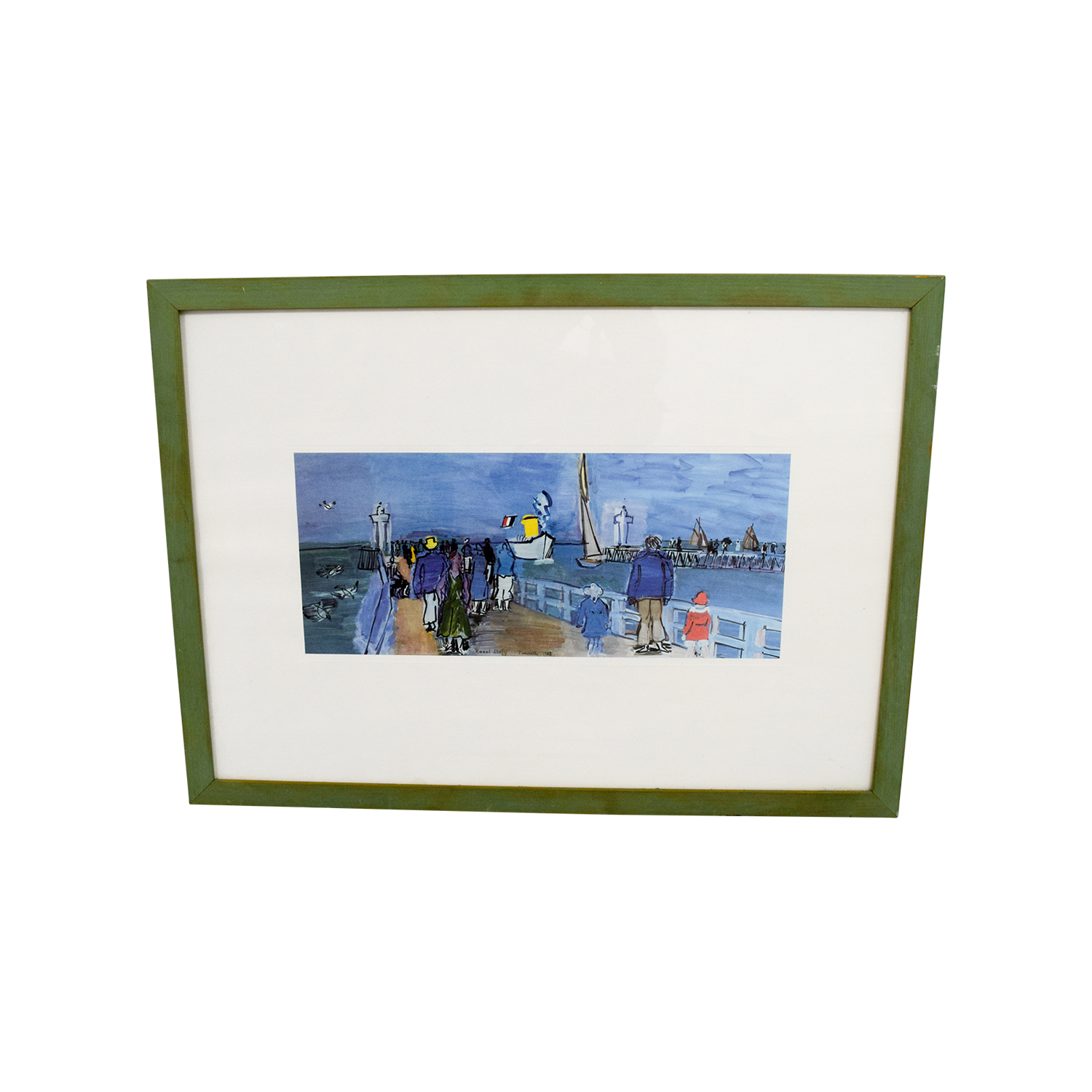 France Boat Deck Framed Picture for sale