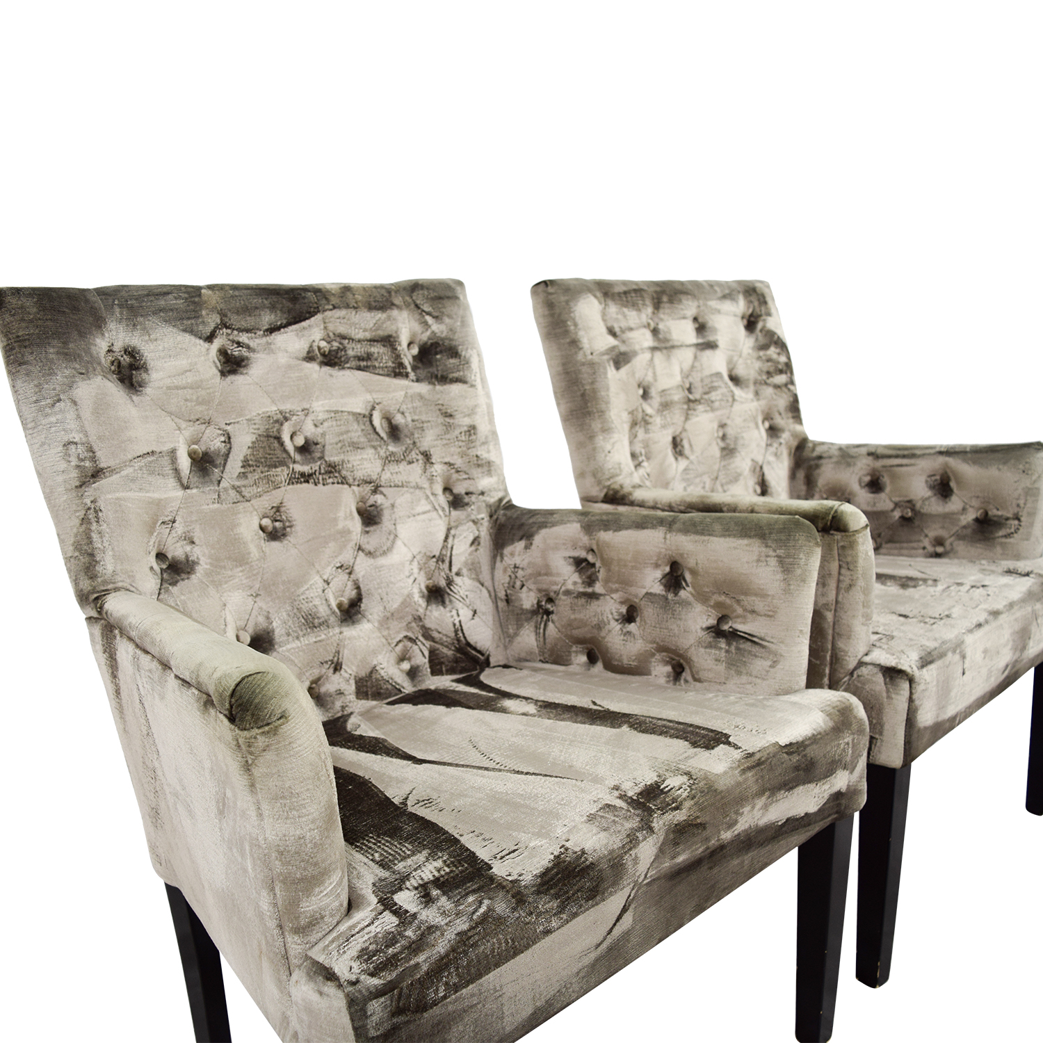 OFF Z Gallerie Z Gallerie Lola Bella Grey Tufted Arm Chairs