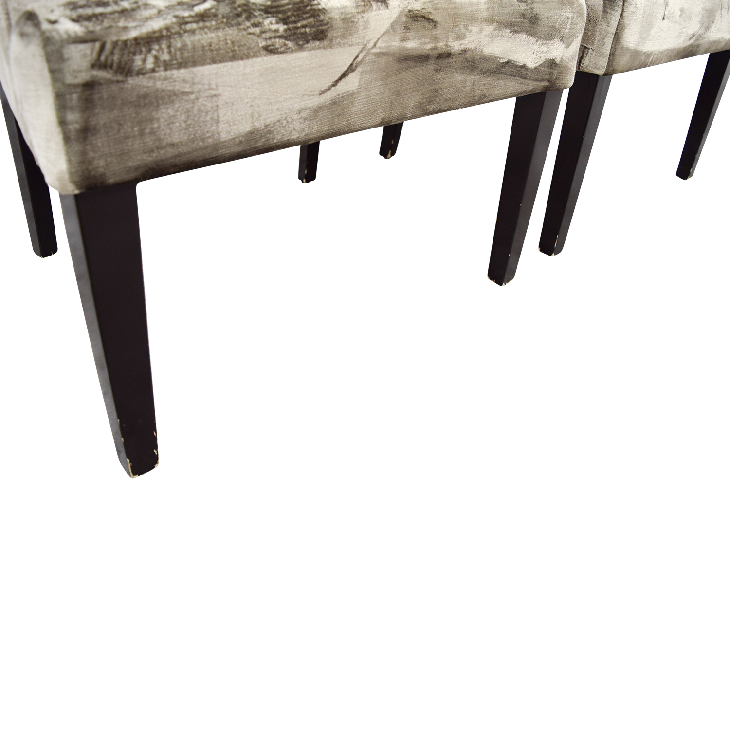 Z Gallerie Z Gallerie Lola Bella Grey Tufted Arm Chairs nyc