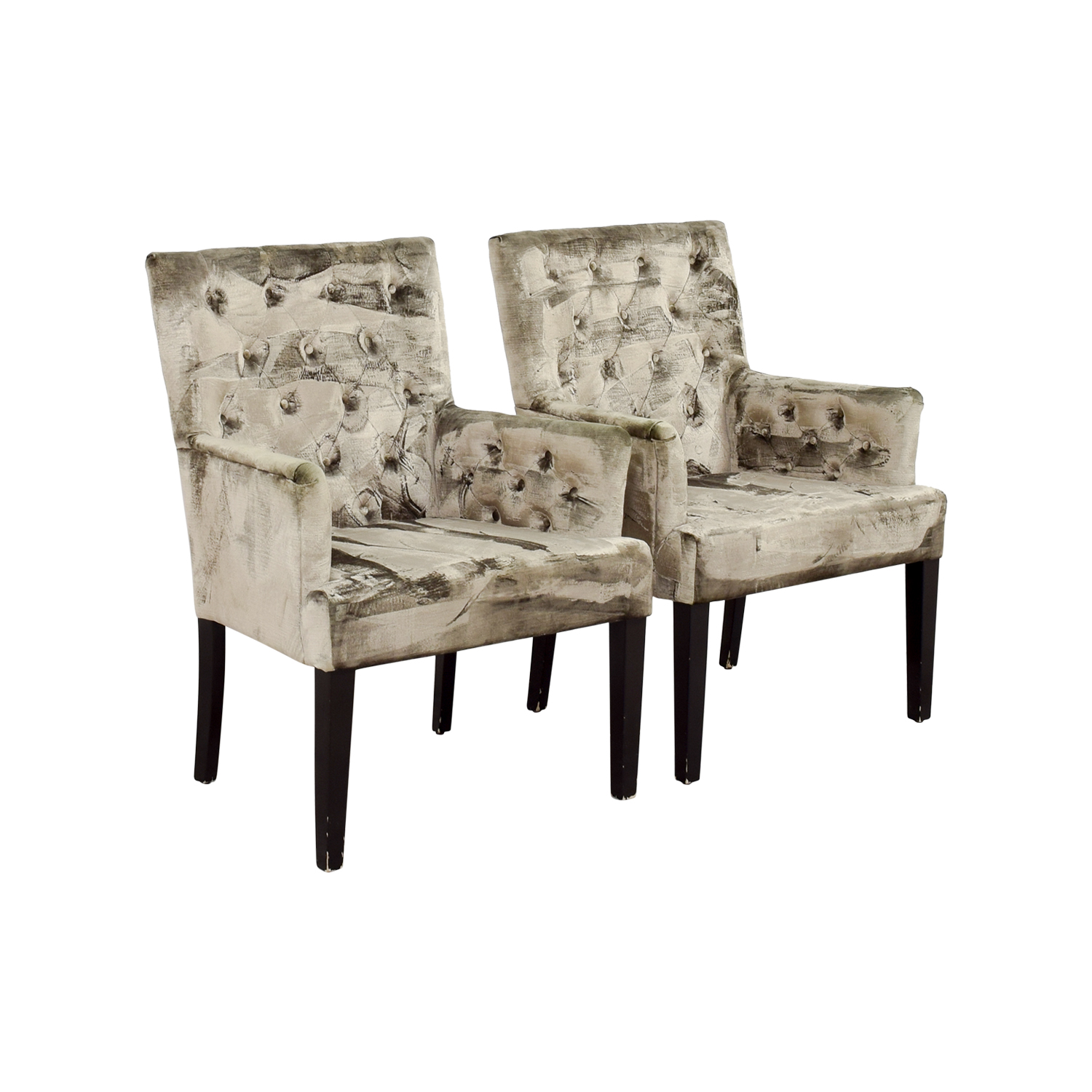 buy Z Gallerie Z Gallerie Lola Bella Grey Tufted Arm Chairs online