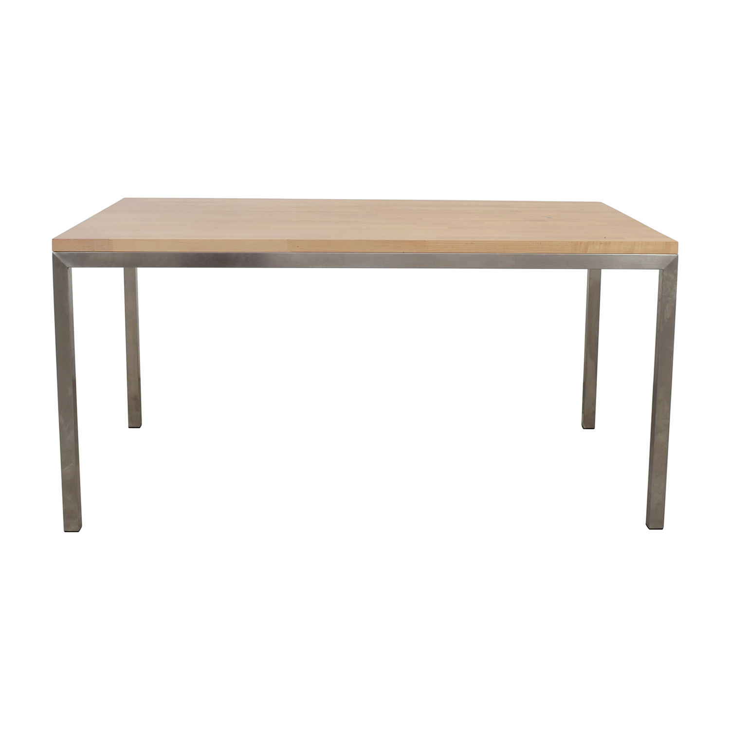 Room & Board Room & Board Portica Wood and Chrome Table price