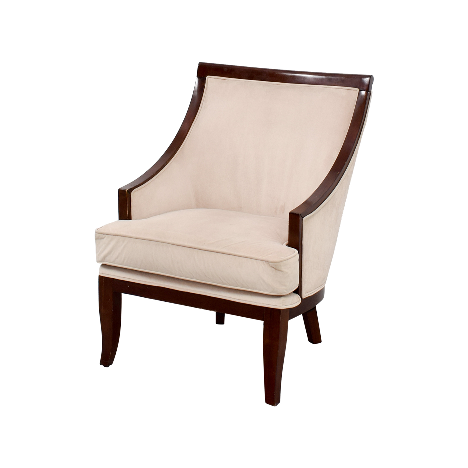 cream accent chair 90 armed accent chair chairs 13574 | second hand cream armed accent chair